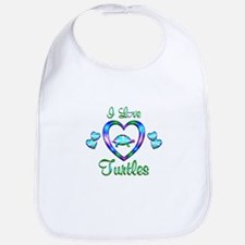 I Love Turtles Bib