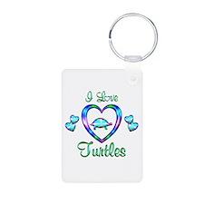 I Love Turtles Keychains
