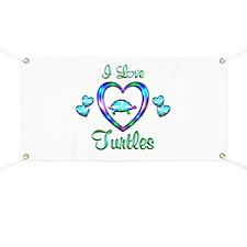 I Love Turtles Banner