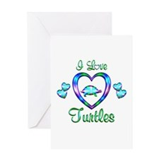 I Love Turtles Greeting Card