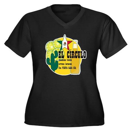 Mexican Bar Women's Plus Size V-Neck Dark T-Shirt