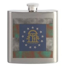 Georgia State Flag Flask