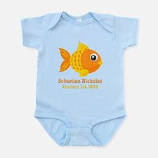 Goldfish CUSTOM Baby Name Birthdate Body Suit