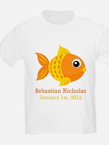 Goldfish CUSTOM Baby Name Birthdate T-Shirt