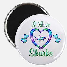 "I Love Sharks 2.25"" Magnet (10 pack)"