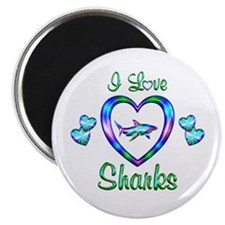 "I Love Sharks 2.25"" Magnet (100 pack)"