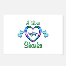 I Love Sharks Postcards (Package of 8)