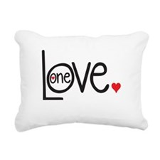 One Love Rectangular Canvas Pillow