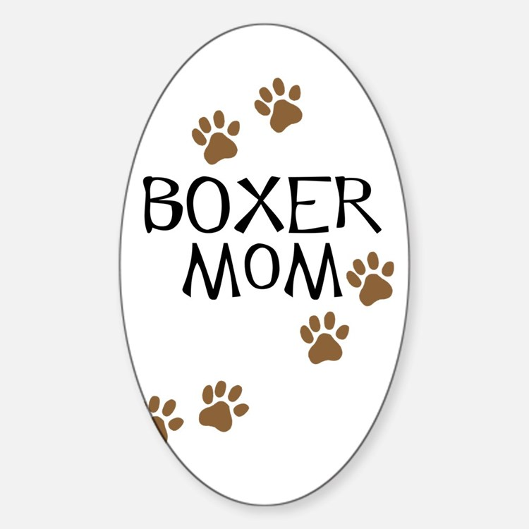 Boxer Mom Decal
