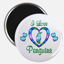 I Love Penguins Magnet