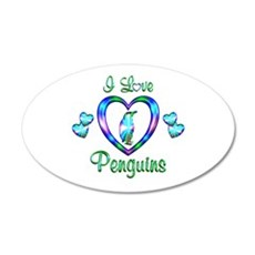 I Love Penguins Wall Decal