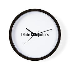 I hate computers Wall Clock