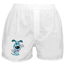 Blue Puppy Boxer Shorts