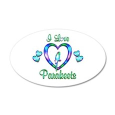 I Love Parakeets Wall Decal