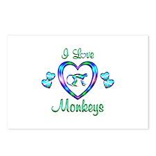 I Love Monkeys Postcards (Package of 8)