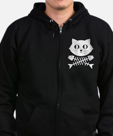 pirate cat Zip Hoodie