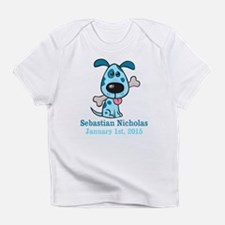 Blue Puppy CUSTOM Baby Name and Birthdate Infant T