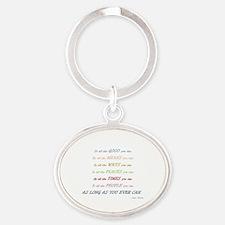 Funny Christians Oval Keychain