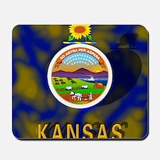 Kansas State Flag Mousepad