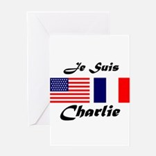 JE SUIS CHARLIE Greeting Cards