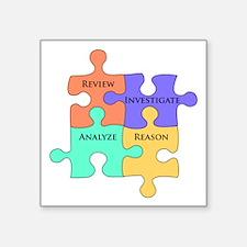 "Cute Analyze Square Sticker 3"" x 3"""