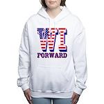 Wisconsin WI Forward Women's Hooded Sweatshirt