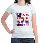 Wisconsin WI Forward Jr. Ringer T-Shirt