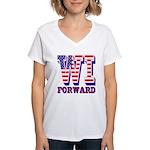 Wisconsin WI Forward Women's V-Neck T-Shirt