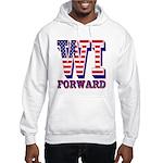 Wisconsin WI Forward Hooded Sweatshirt