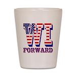 Wisconsin WI Forward Shot Glass