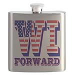 Wisconsin WI Forward Flask