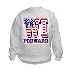 Wisconsin WI Forward Kids Sweatshirt