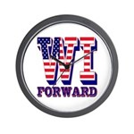 Wisconsin WI Forward Wall Clock