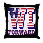 Wisconsin WI Forward Throw Pillow
