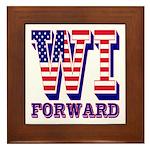 Wisconsin WI Forward Framed Tile