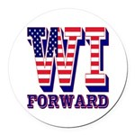Wisconsin WI Forward Round Car Magnet