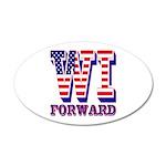 Wisconsin WI Forward 20x12 Oval Wall Decal