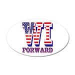 Wisconsin WI Forward 35x21 Oval Wall Decal
