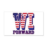 Wisconsin WI Forward 20x12 Wall Decal