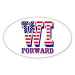 Wisconsin WI Forward Sticker (Oval 50 pk)