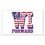Wisconsin WI Forward Sticker (Rectangle 10 pk)