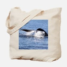Blue Whale Flukes Tote Bag