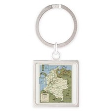 Colombia map Keychains