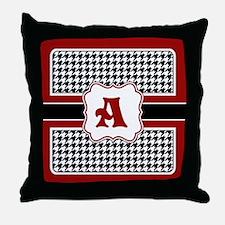 Houndstooth Monogram Throw Pillow