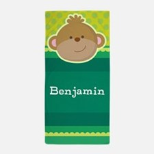 Monkey Jungle Kids Personalized Beach Towel