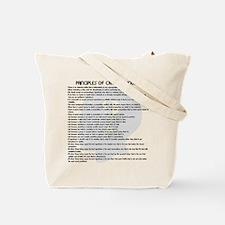 Principles Tote Bag