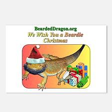 A Beardie Christmas Postcards (Package of 8)