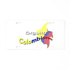 Orgullo Colombiano Aluminum License Plate