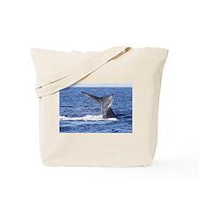 Blue Whale Flukes 3 Tote Bag