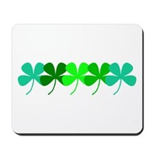 Irish Green 4 Leaf Clovers St. Patricks Mousepad